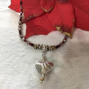 """GOTTA HAVE HEART"" Handcrafted Necklace One Only!"